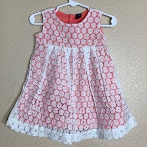 Old Navy toddler girl white lace dress